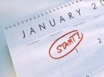 January 1 on Calendar