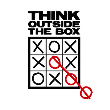Think outside box tic-tac-toe