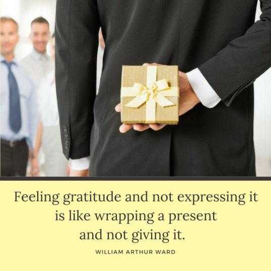 2017-11-22 - Gratitude - not expressing is gift not given