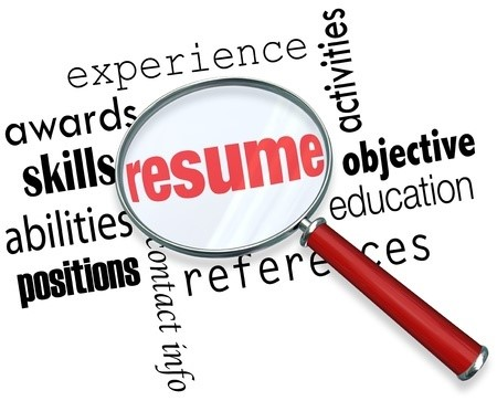 Resume w Magnifying Glass